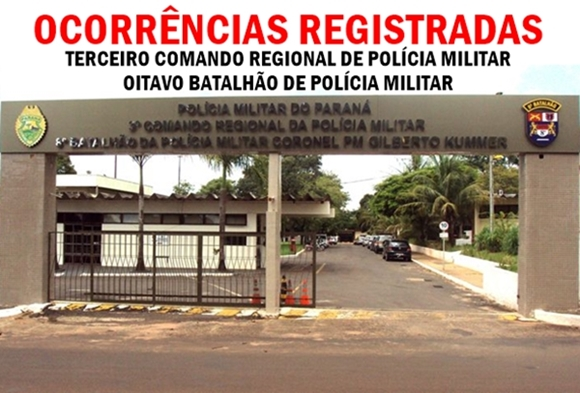 OCORRENCIAS DO 8 BATALHÃO 598